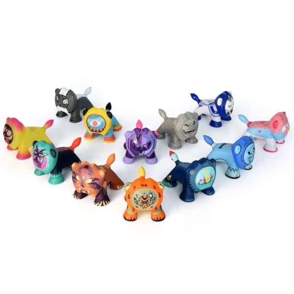 Figurines Art Toys. 12,90 € l'unité disponible sur www.boutique.peugeot.com