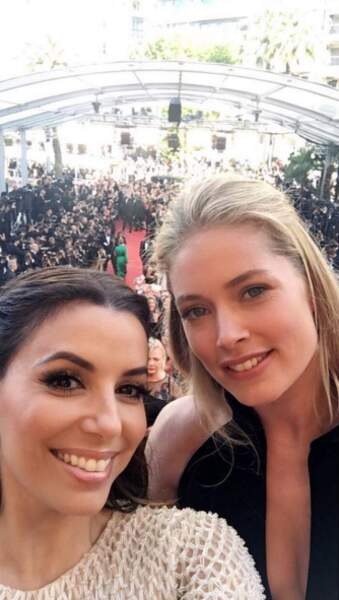 Insta Cannes 2016 : Eva Longoria et Doutzen Kroes ont cédé au selfie en haut des marches!