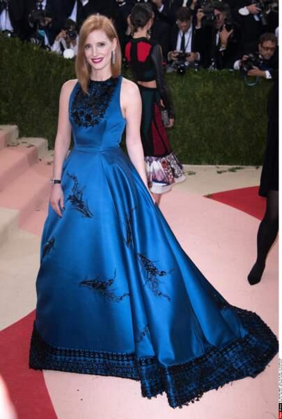 Jessica Chastain en Prada