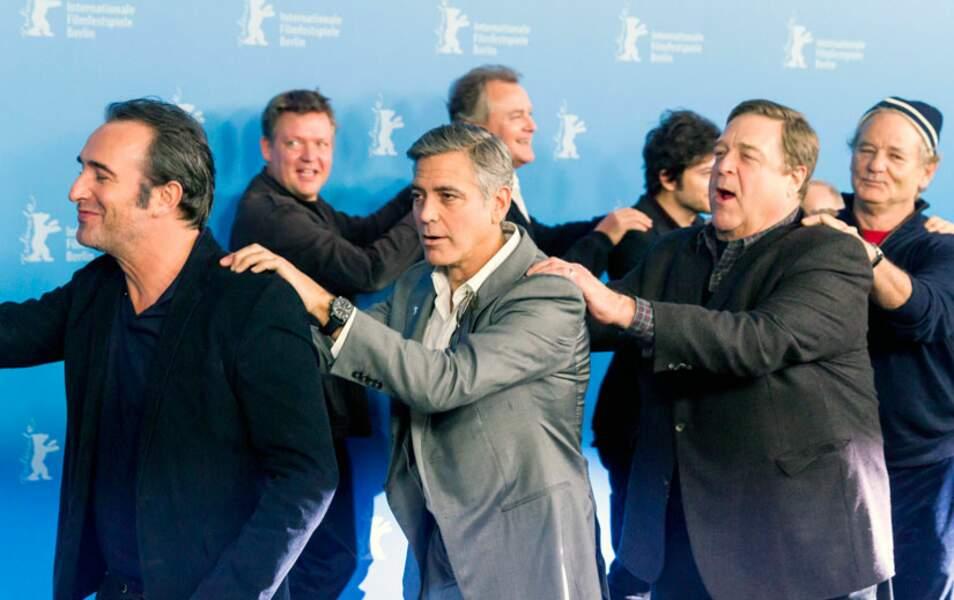 Jean Dujardin, George Clooney, John Goodman et Bill Murray