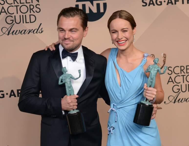 Leonardo DiCaprio et Brie Larson