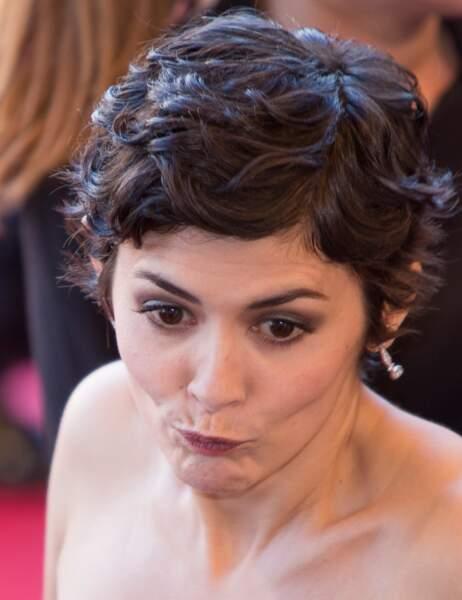 L'étonnement d'Audrey Tautou (eh oui, c'est ça d'être actrice...)