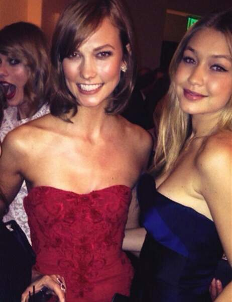 Karlie Kloss et Gigi Hadid, très classe. Taylor Swift, moins