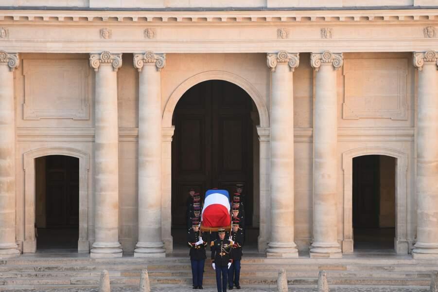 Le cercueil de Charles Aznavour lors de l'hommage national au chanteur