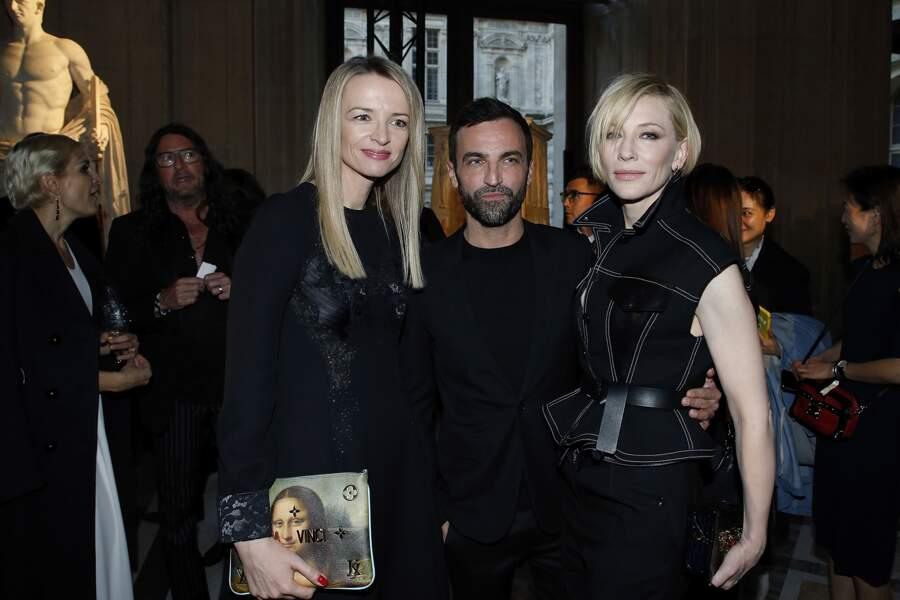 Soirée Louis Vuitton x Jeff Koons au Louvre : Delphine Arnault, Nicolas Ghesquiere et Cate Blanchett