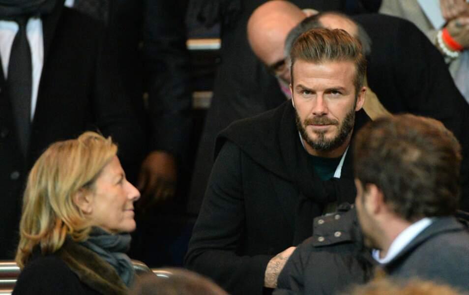Claire Chazal semble avoir reconnu le beau David Beckham