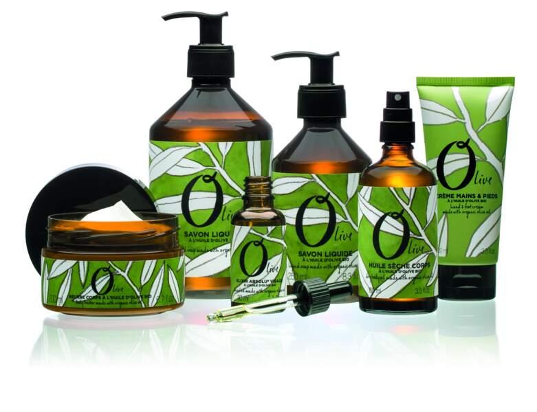 Olive, gamme de soins à l'huile d'olive bio