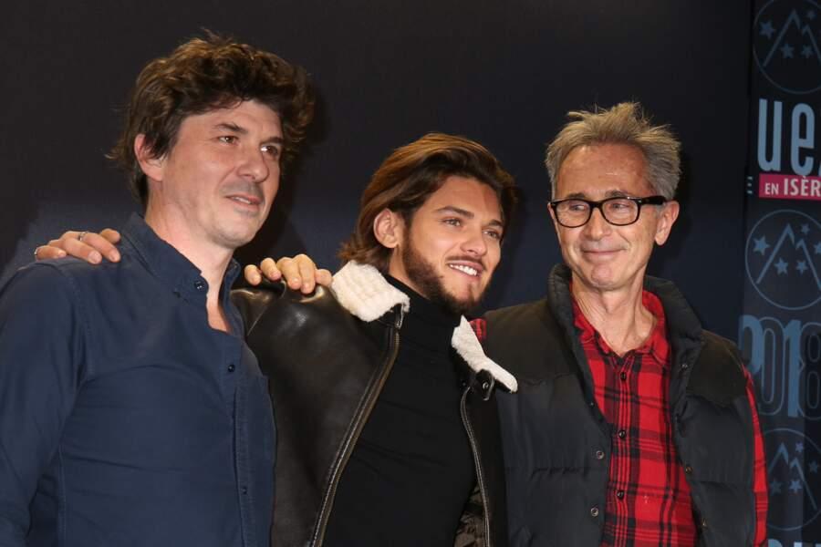 Robin Sykes, Rayane Bensetti et Thierry Lhermitte au Festival international du film de comédie de l'Alpe d'Huez