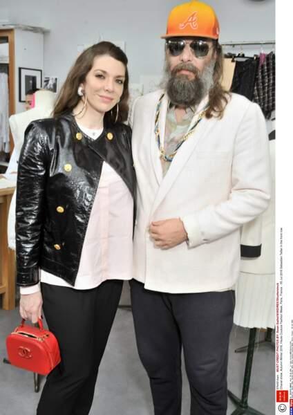 Défilé Chanel Haute Couture : Sébastien Tellier et sa femme Amandine de la Richardière