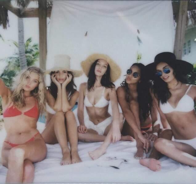 Bella Hadid, Elsa Hook, Alessandra Ambrosio, Emily Ratajkowski, Hailey Baldwin et Gizele Oliveira