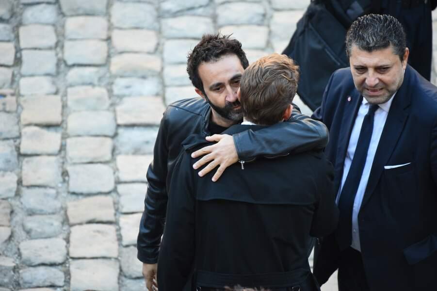 Mathieu Madénian à l'hommage national à Charles Aznavour