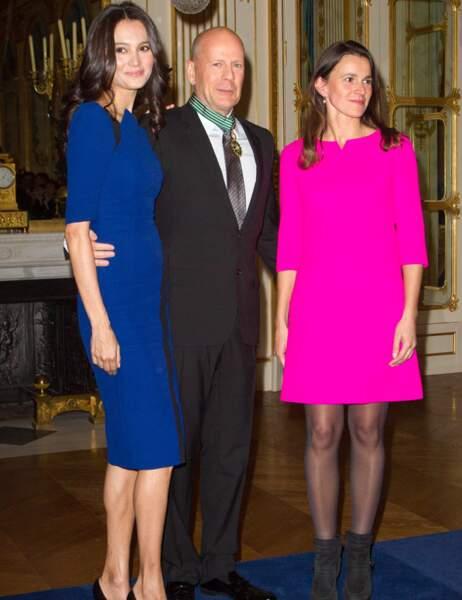 Emma Heming, Bruce Willis et Aurélie Filippetti