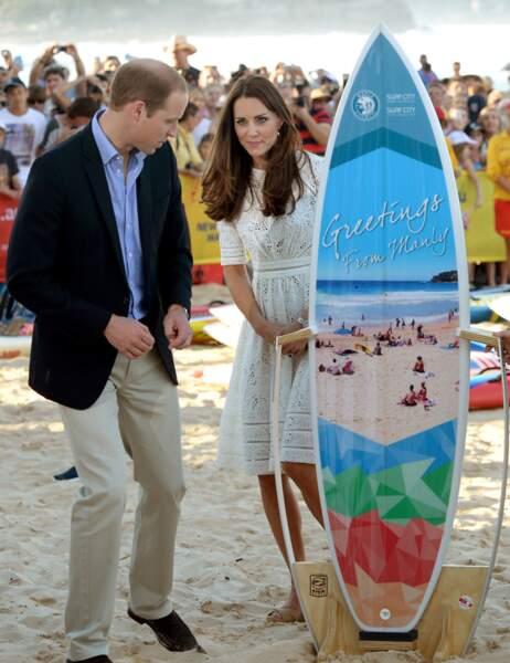 En cadeau, une planche de surf