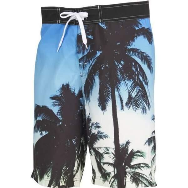 Short de bain imprimé palmiers, Go Sport, 24,99€