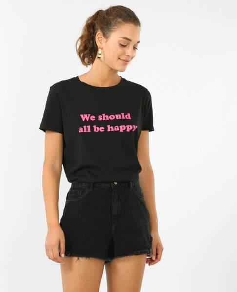 Pimkie : 35 articles soldés sur lesquels on craque : T-shirt à message, 3 euros au lieu de 5,99 euros