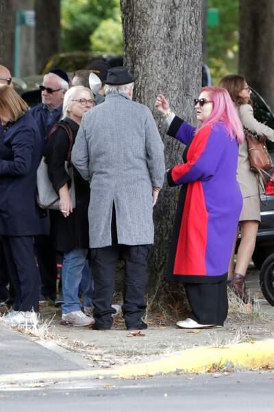 Josiane Balasko et Marilou Berry aux obsèques de Philippe Berry