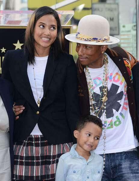 Pharrell Williams, son fils et sa femme