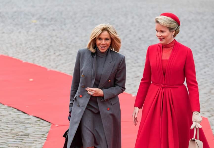 Brigitte Macron et Mathilde de Belgique