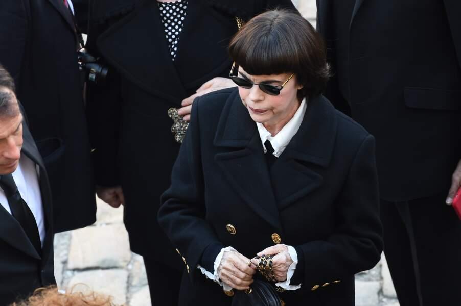 Mireille Mathieu à l'hommage national à Charles Aznavour