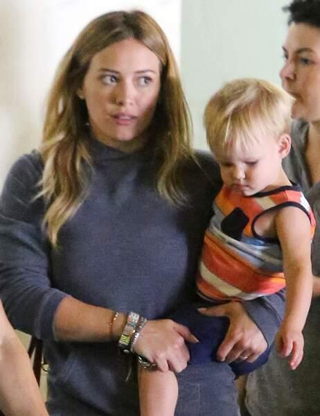 Hilary Duff avec son fils