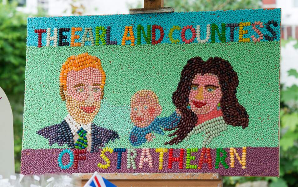 Un portrait en bonbons de la famille de Cambridge. Une belle recherche.