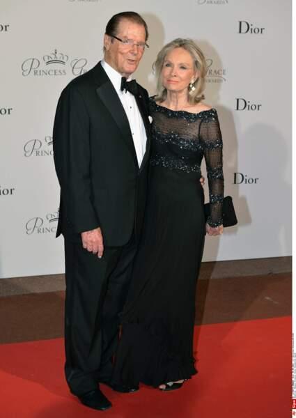 Roger Moore et sa femme Cristina Tholstrup