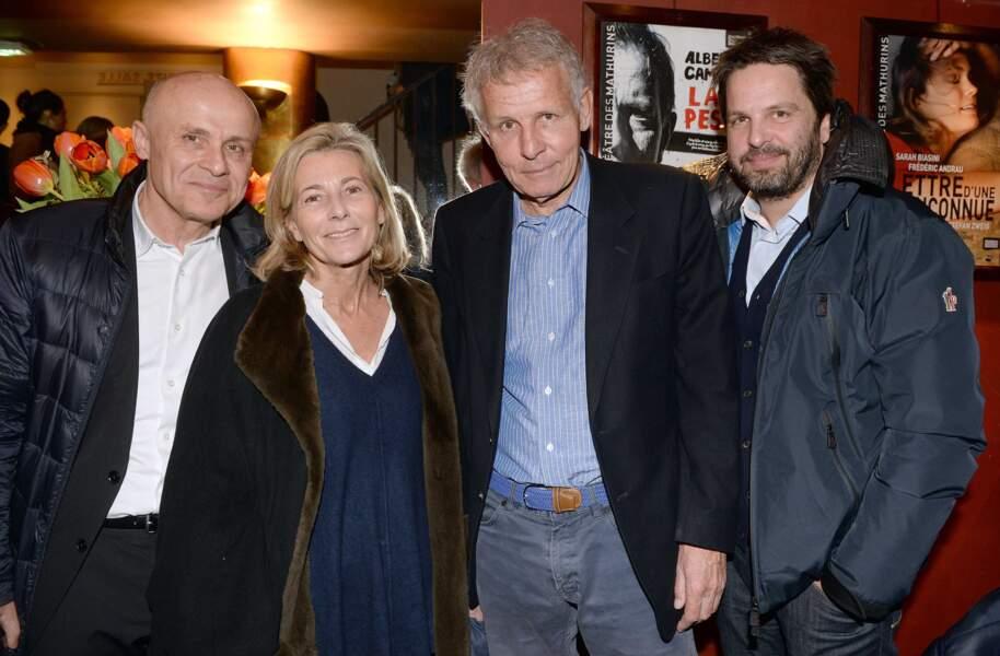 Olivier Poivre d'Arvor, Claire Chazal, Patrick Poivre d'Arvor et Arnaud Poivre d Arvor