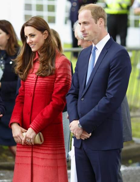 Kate et William étaient hier en visite à la fête de Forteviot en Ecosse