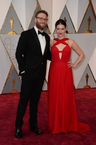 Les plus beaux couples des Oscars 2017 : Seth Rogen et Lauren Miller