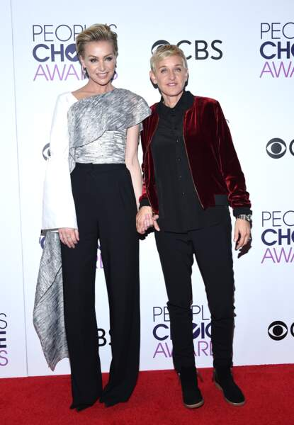 People's Choice Awards 2017 : Ellen DeGeneres et sa femme Portia de Rossi (en ADEAM)