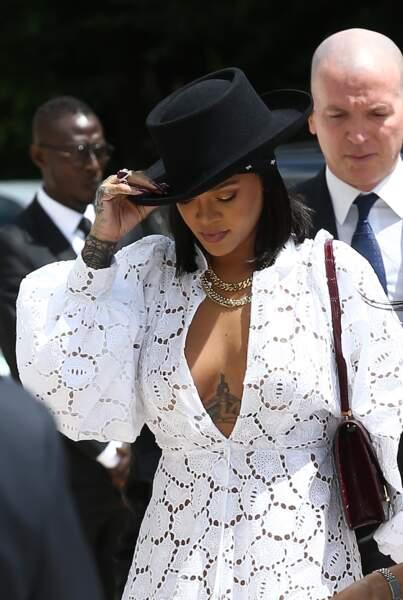 Rihanna à la fondation Louis Vuitton à Paris