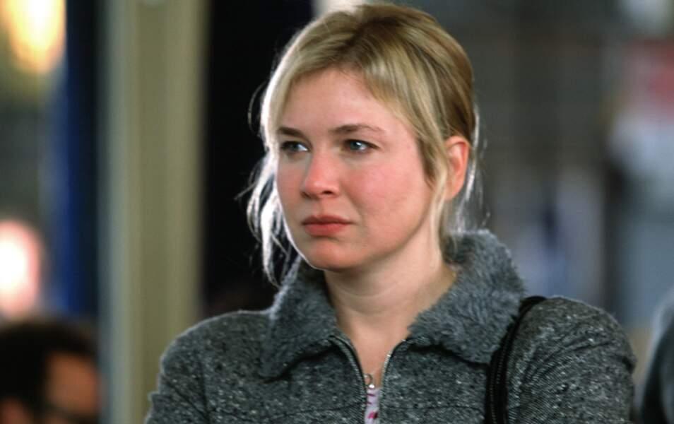 Ici, dans le rôle qui l'a fait connaître, Bridget Jones !