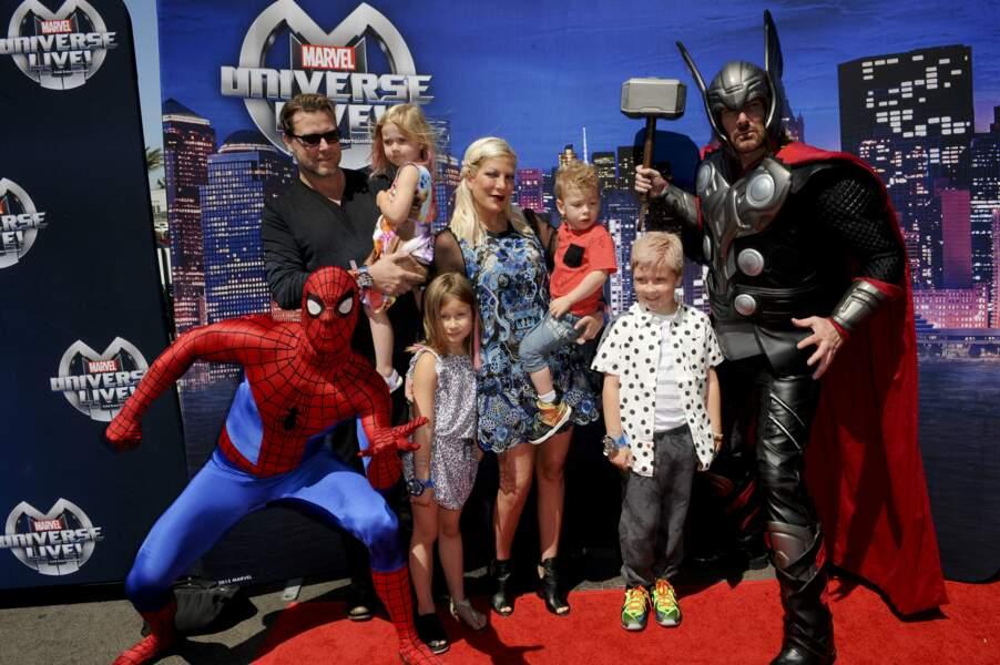 Tori Spelling et sa petite famille