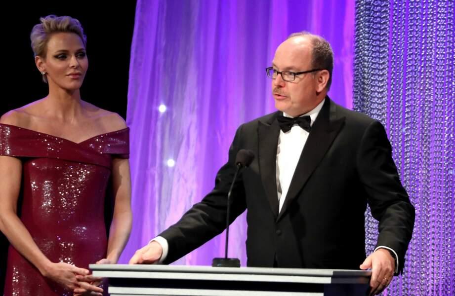 Princess Grace Awards : Charlène et Albert de Monaco