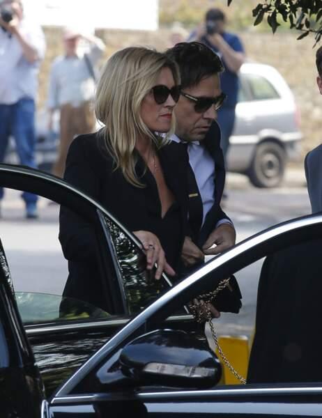 Kate Moss et Jamie Hince aux obsèques de Peaches Geldof