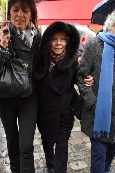 Isabelle Aubret aux obsèques de Dick Rivers à Paris