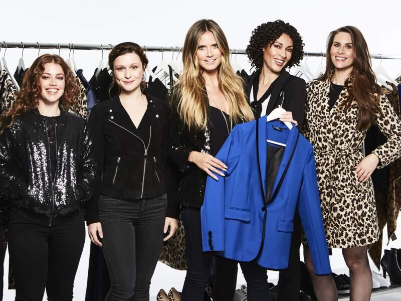 Heidi Klum x Lidl : le mannequin présente sa veste de costume bleue