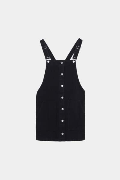 Robe salopette en jean, Zara, 29,95€