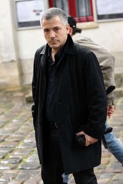Bruno Putzulu aux obsèques de Dick Rivers à Paris