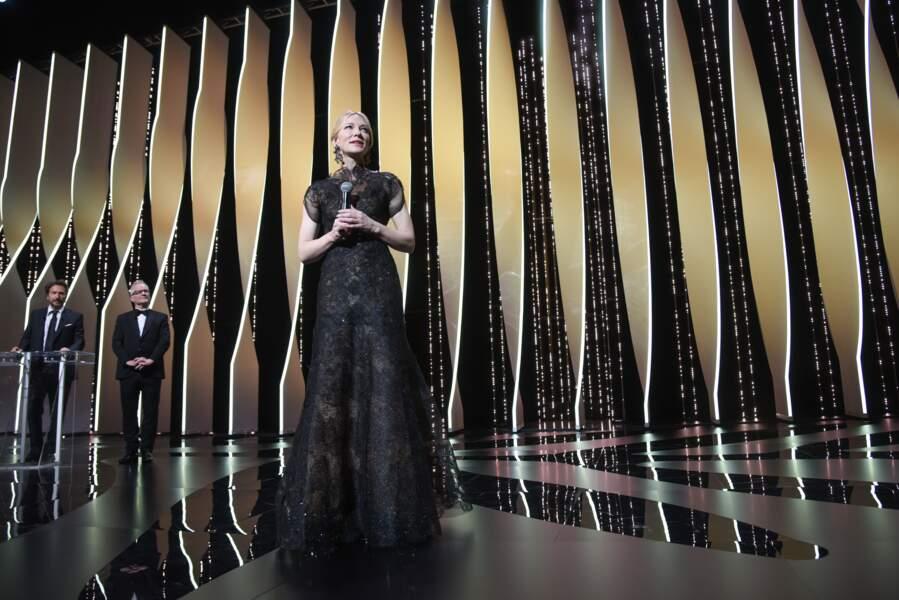 71ème Festival de Cannes en 2018 : Cate Blanchett en robe Giorgio Armani Privé