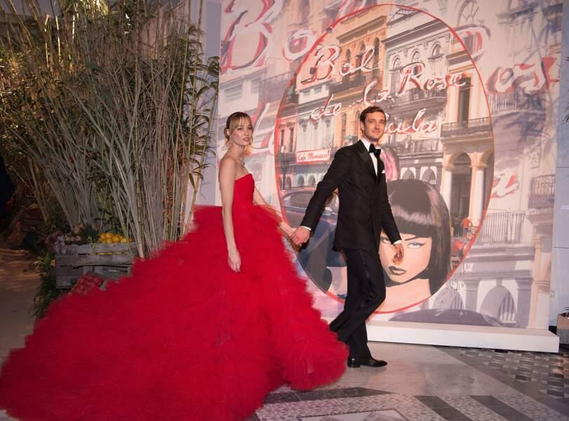 La robe de l'épouse de Pierre Casiraghi est majestueuse