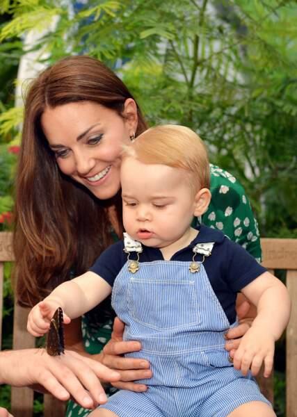 Photo officielle du prince George, prise le 2 juillet 2014