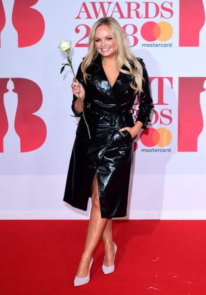 Emma Bunton aux Brit Awards 2018, le 21 février à Londres