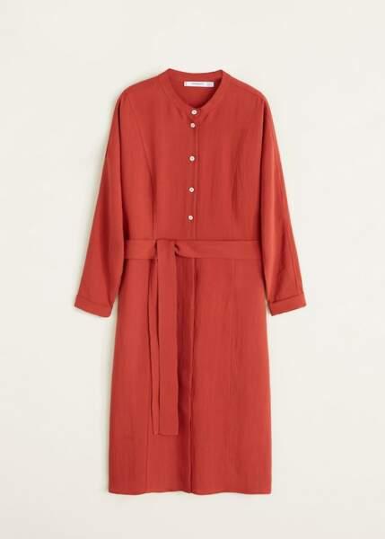 Robe soft noeud, Mango, 49,99€