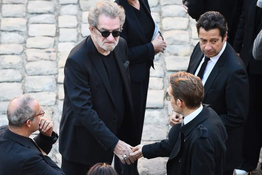 Eddy Mitchell et Laurent Gerra à l'hommage national à Charles Aznavour
