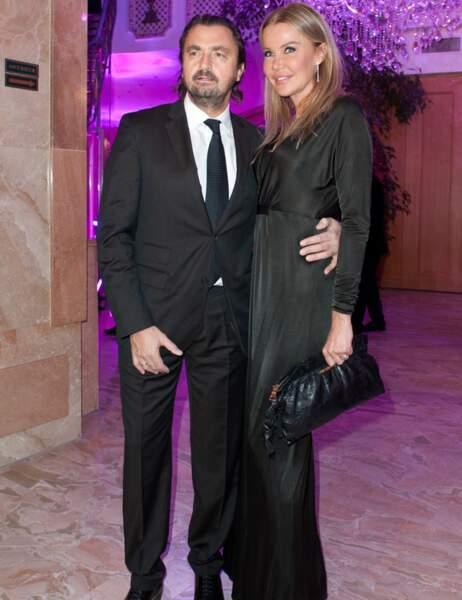 Henri Leconte et sa femme Florentine