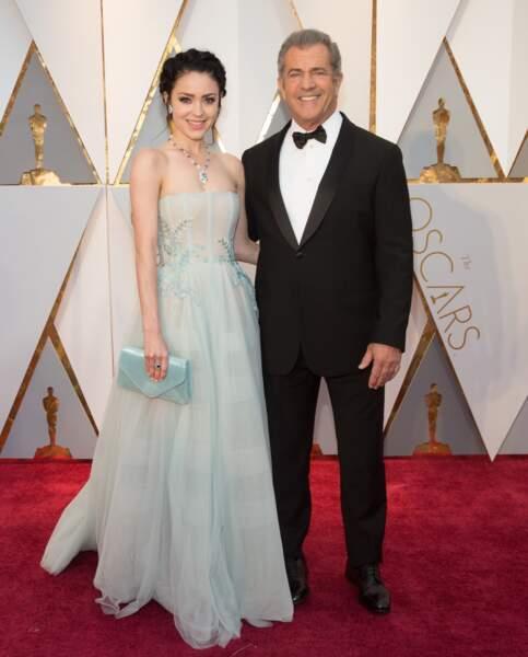 Les plus beaux couples des Oscars 2017 : Rosalind Ross et Mel Gibson
