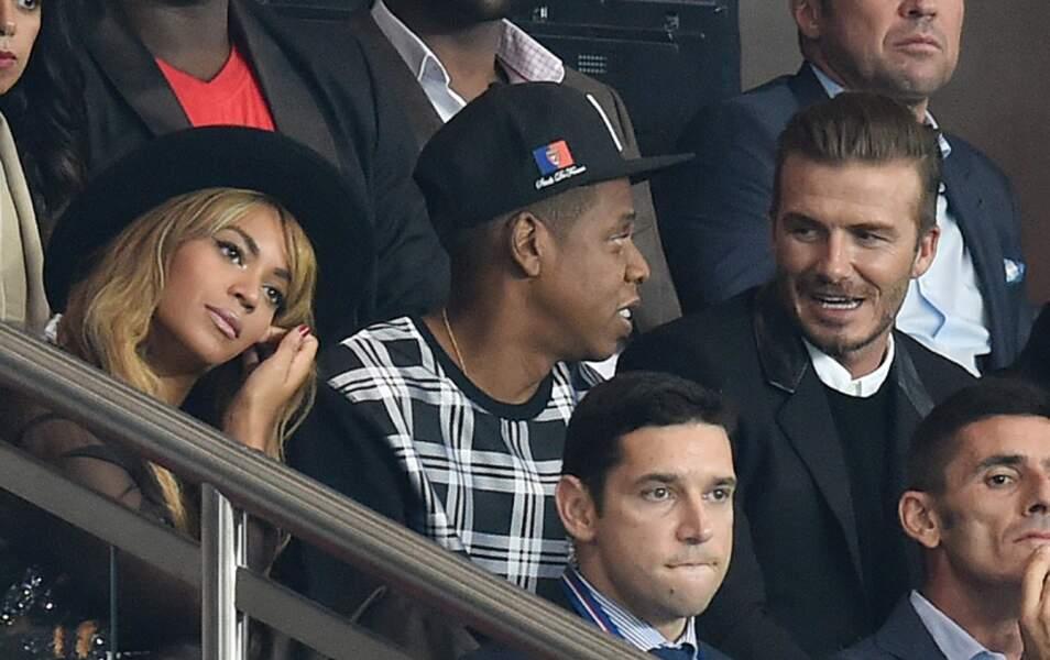 Jay Z et David Beckham parlent foot. On est en train de perdre Beyoncé