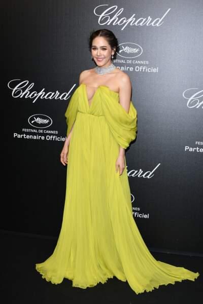 Araya Hargate lors de la soirée Chopard organisée au festival de Cannes le 17 mai 2019