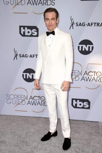Chris Pine aux SAG Awards 2019, le 27 janvier, à Los Angeles